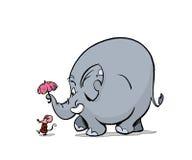 słonia spacer Obrazy Royalty Free