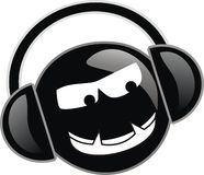 Sonic Bomb. Evil little sonic bomb dude with head phones royalty free illustration