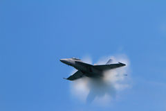 Sonic Boom at the Chicago Air Show -Motion Blur stock images