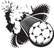 Sonic Boom Soccer Ball Stock Photography