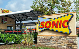 Sonic Drive-In Restaurant Fotografia de Stock Royalty Free