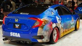 Sonic jeż Honda Civic przy SEMA Zdjęcia Stock