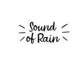 Sonido de la lluvia Caligrafía moderna Tarjeta manuscrita Imágenes de archivo libres de regalías
