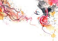 Sonido de la música Foto de archivo libre de regalías