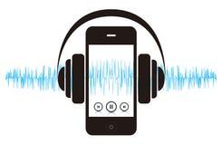 Sonido de la música de Smartphone stock de ilustración