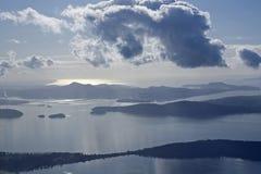 Sonido de Puget de las islas de San Juan Fotografía de archivo