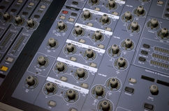 Sonido del regulador y equipo de la luz Foto de archivo