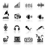 Sonido fijado iconos Imagen de archivo