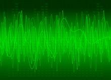 Sonido verde abstracto stock de ilustración