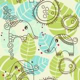 słonie uprawiają ogródek trochę Fotografia Stock