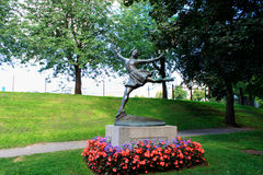 Sonja H. Sonja Henie monument in Oslo (1912 –1969) was a Norwegian figure skater and film star. She was a three-time Olympic Champion in Ladies' Singles, a Stock Images