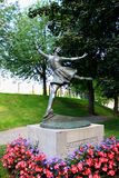 Sonja Henie. Sculpture in Oslo (8 April 1912 – 12 October 1969) was a Norwegian figure skater and film star Royalty Free Stock Image