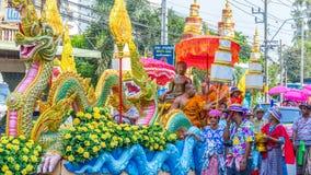 Sonkran节日游行 免版税库存照片