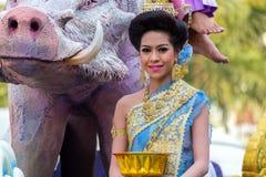 Sonkran festiwalu parada zdjęcia royalty free