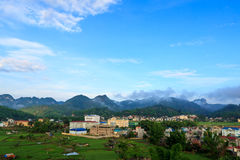 Sonla省,在越南北部 免版税库存照片