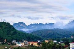 Sonla省,在越南北部 免版税库存图片