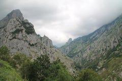 Sonllano y Valle del Duje, Cabrales, Spanien Royaltyfria Foton