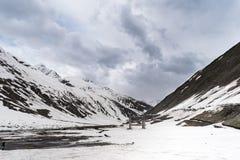 Sonmarg, Jammu & Kashmir, India - 19th May 2018 - Beautiful snow covered mountain. Sonmarg, Jammu & Kashmir, India. Beautiful snow covered mountain from both royalty free stock photo