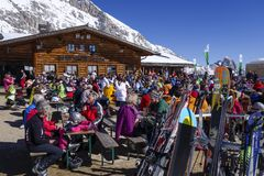 Sonn Alpin Restaurant At The Zugspitze Royalty Free Stock Photos