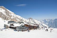 SonnAlpin Gletscher beim Zugspitze Stockfotografie