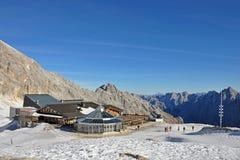 SonnAlpin am Zugspitze Gletscher Lizenzfreie Stockbilder