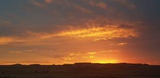 Sonne COOBER PEDY Süd-Australien-Farbkätzchen stockfoto