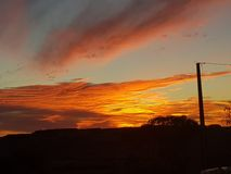 Sonne COOBER PEDY Süd-Australien-Farbkätzchen stockfotografie