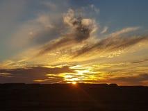 Sonne COOBER PEDY Süd-Australien-Farbkätzchen lizenzfreie stockfotos