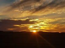 Sonne COOBER PEDY Süd-Australien-Farbkätzchen lizenzfreie stockfotografie