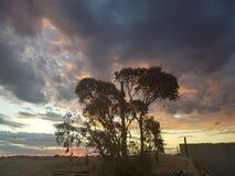 Sonne COOBER PEDY Süd-Australien-Farbkätzchen lizenzfreies stockbild