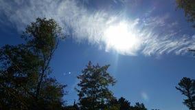 Sonne des blauen Himmels Lizenzfreies Stockbild