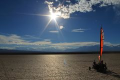 Sonne EL Leoncito Blokart Stockbild