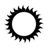 Sonne lokalisiertes Ikonendesign Lizenzfreie Stockbilder