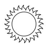 Sonne lokalisiertes Ikonendesign Stockbild