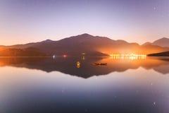 Sonne-Mond-See, Taiwan Stockfotografie