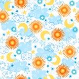 Sonne-nahtloses Muster Stockfotos