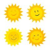 Sonnen mit Lächeln Lizenzfreies Stockfoto