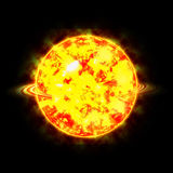 Sonnen- Planeten und Stern des Sonnensystems sind schwer lizenzfreies stockbild