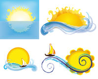 Sonnen und Meere vektor abbildung