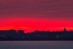 Sonnenaufgänge stockbild