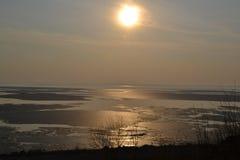 Sonnenaufgänge lizenzfreies stockbild