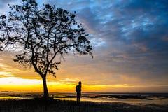 Sonnenaufgänge morgens Himmel, Wolken und schönes Lizenzfreie Stockfotografie