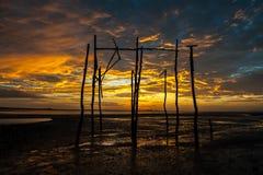 Sonnenaufgänge morgens Himmel, Wolken und schönes Stockfoto