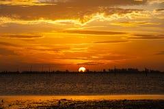 Sonnenaufgänge morgens Himmel, Wolken und schönes Lizenzfreies Stockbild