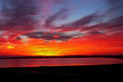 Sonnenaufgänge in San Fernando, Cadiz lizenzfreies stockbild