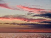 Sonnenaufgang am Äquator, GalÃ-¡ pagos stockbilder