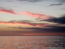 Sonnenaufgang am Äquator, GalÃ-¡ pagos stockfotografie