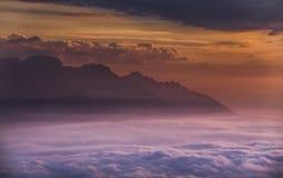 Sonnenaufgang Österreich Lizenzfreie Stockfotografie