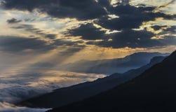 Sonnenaufgang Österreich Stockfotografie