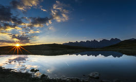 Sonnenaufgang Österreich Lizenzfreie Stockfotos